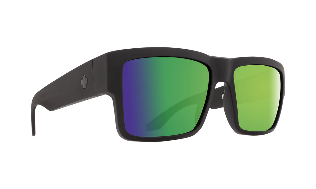 Cyrus Matte Black - HD Plus Bronze Polar with Green Spectra