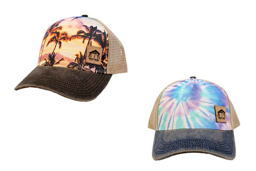 Beach House Sublimated Pattern Trucker Hats