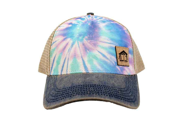 TYEDYE Beach House Surf Shop Trucker Hat front view