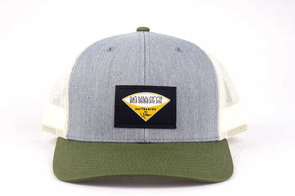 Santa Barbara Surf Shop Woven Label Snapback Hat - Surf N' Wear Beach House Online