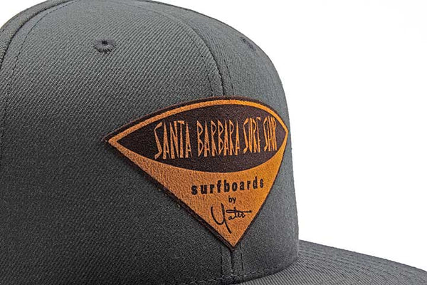 Faux Leather Patch Logo Twill Snapback Hat - Surf N' Wear Beach House Online