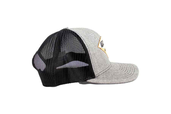 Santa Barbara Surf Shop Snapback Hat (Heather Grey & Black)
