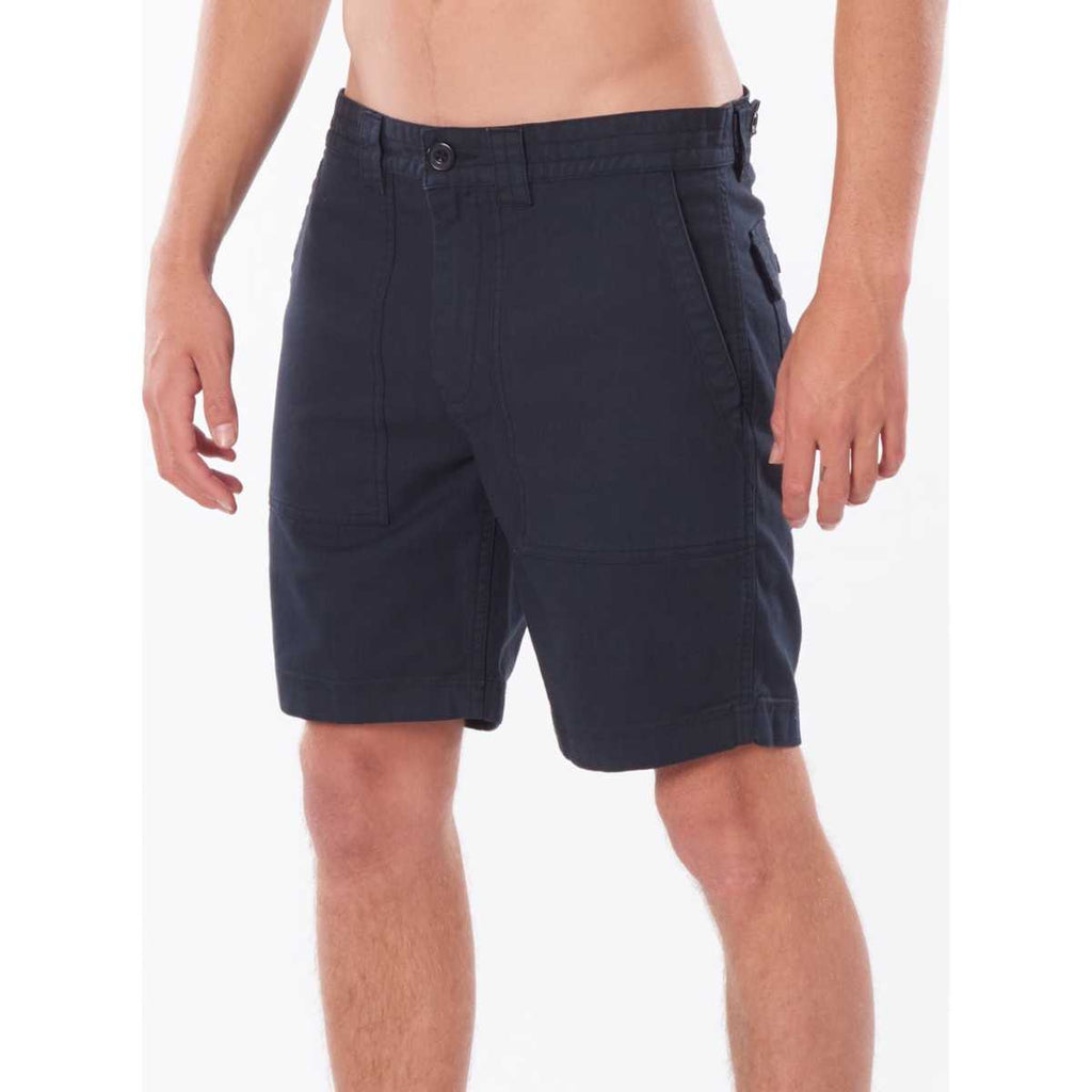 "Surf Heads Incoming 18"" Shorts in Washed Black"