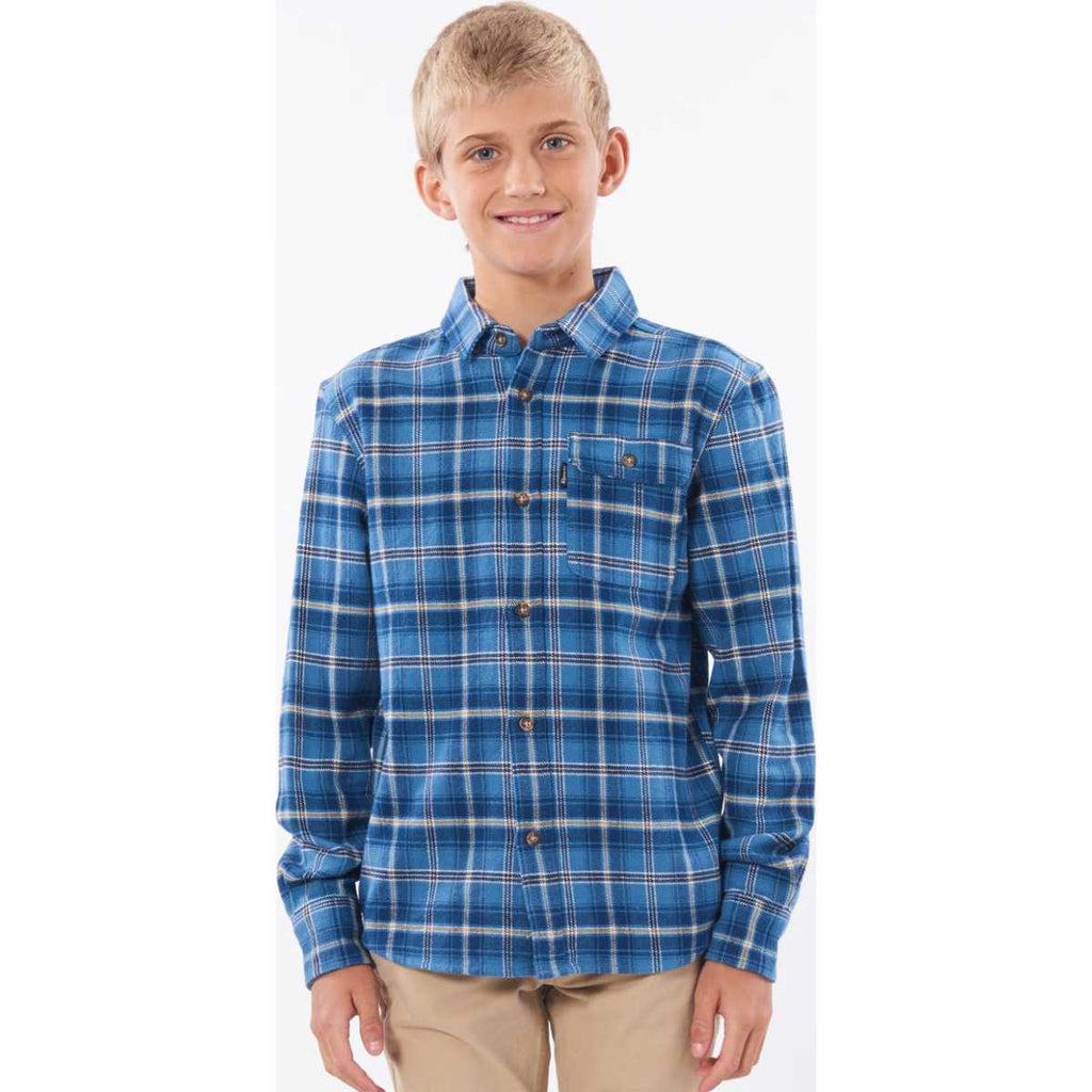 Boy's Saltwater Culture Long Sleeve Shirt in Navy