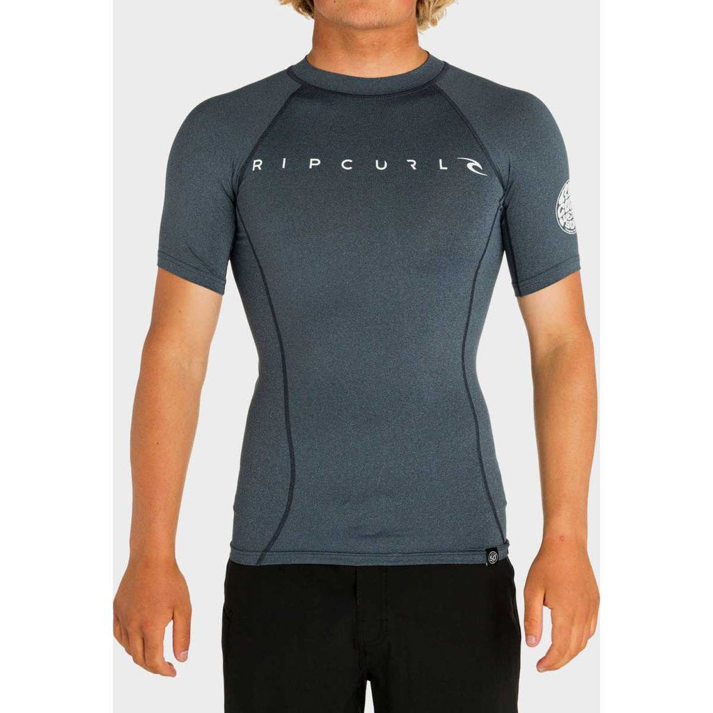 Dawn Patrol Short Sleeve Rash Guard in Navy Marle