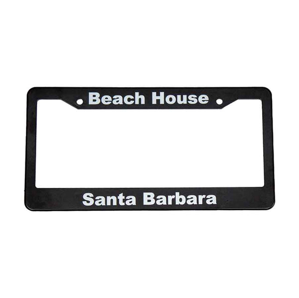 Santa Barbara Surf Shop Car License Plate Frames