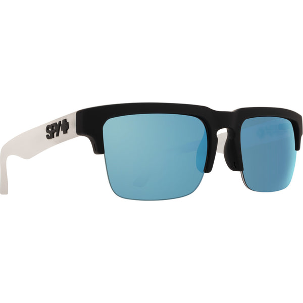 Helm 5050 Matte Black Clear - HD Plus Gray Green with Light Blue Spectra Mirror
