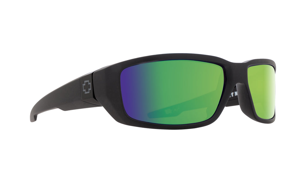 Dirty Mo Matte Black - HD Plus Bronze Polar with Green Spectra Mirror