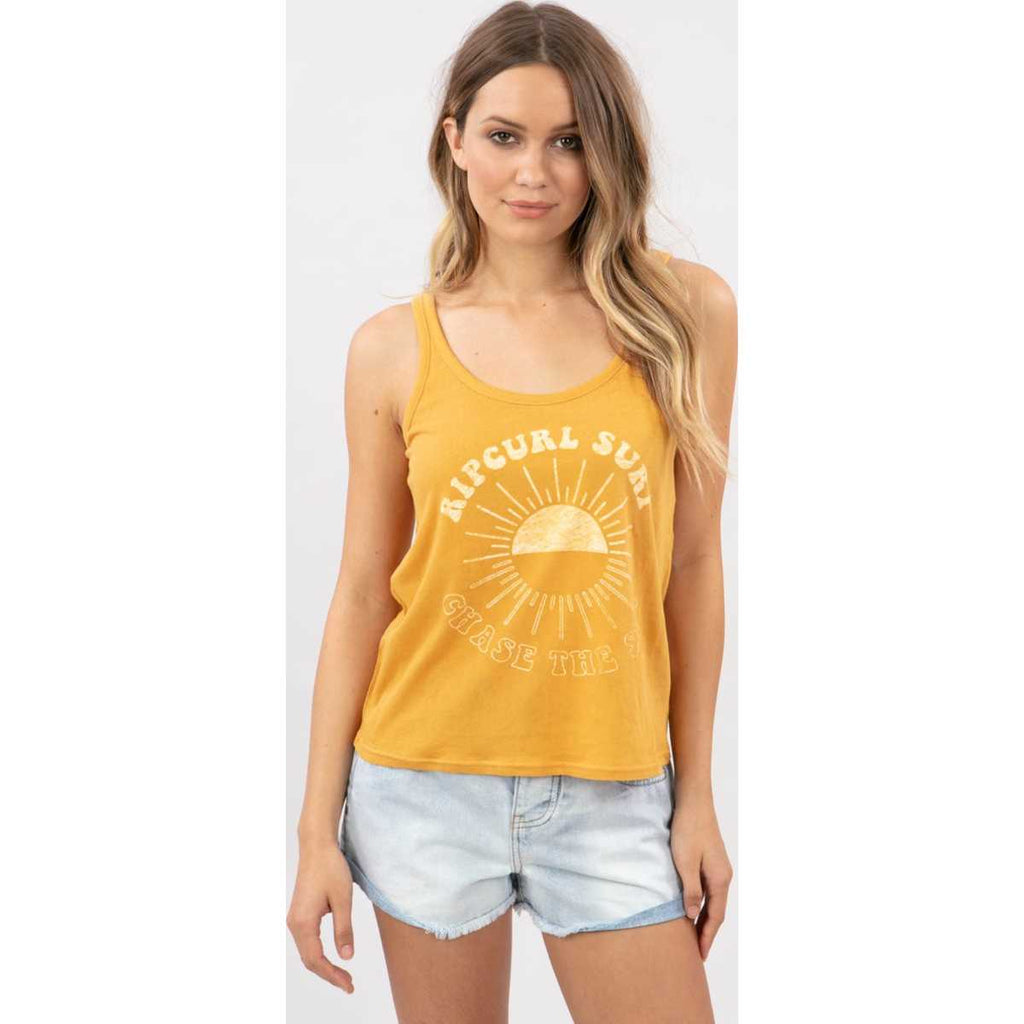 Chase The Sun Strap Tank in Honey