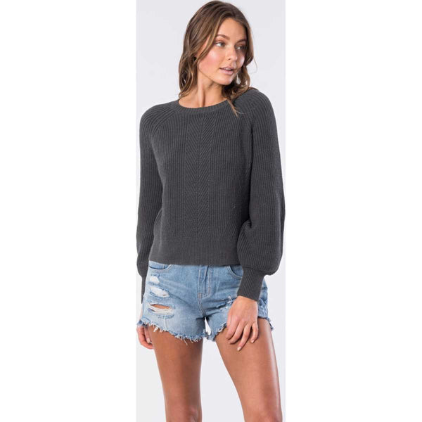 Coco Cotton Relaxed Fit Top in Charcoal Heather