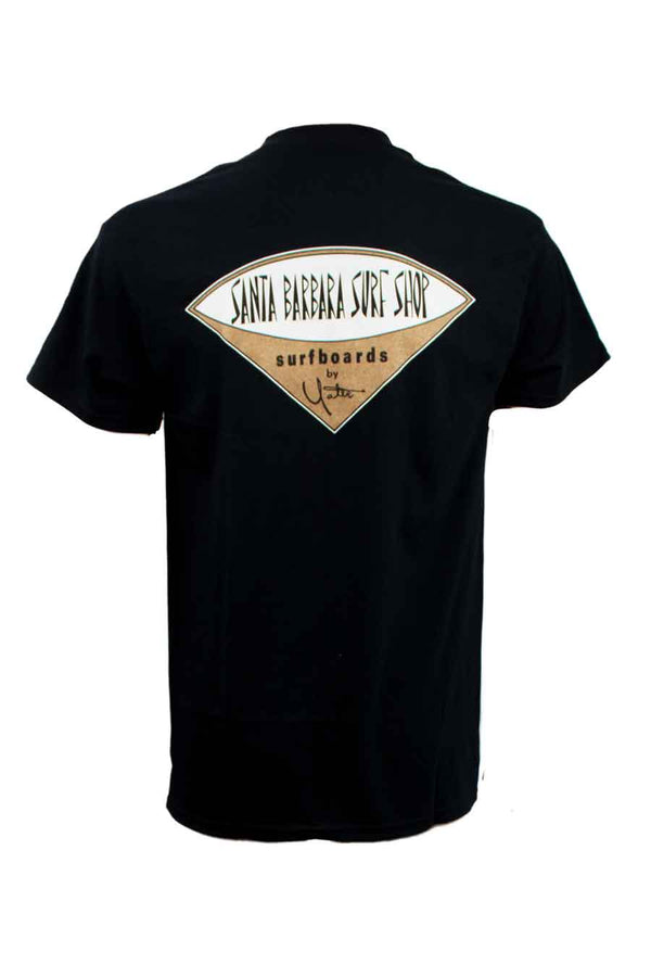 Short Sleeve T-Shirt with Santa Barbara Surf Shop Logo - Surf N' Wear Beach House Online