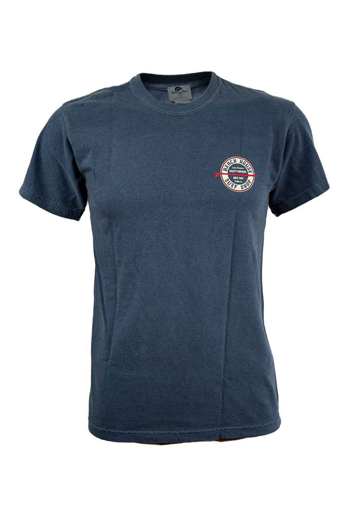 Beach House Retro Circle Surfboard Logo T-Shirt - Surf N' Wear Beach House Online