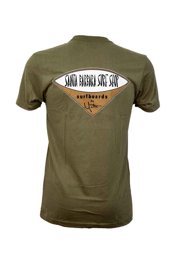 Short Sleeve T-Shirt Sueded with Santa Barbara Surf Shop Logo - Surf N' Wear Beach House Online
