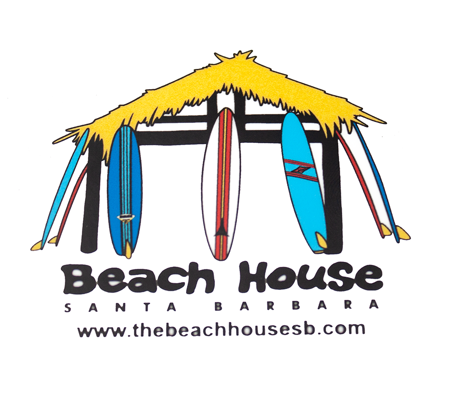 Beach House Classic Hut Logo Sticker - Surf N' Wear Beach House Online