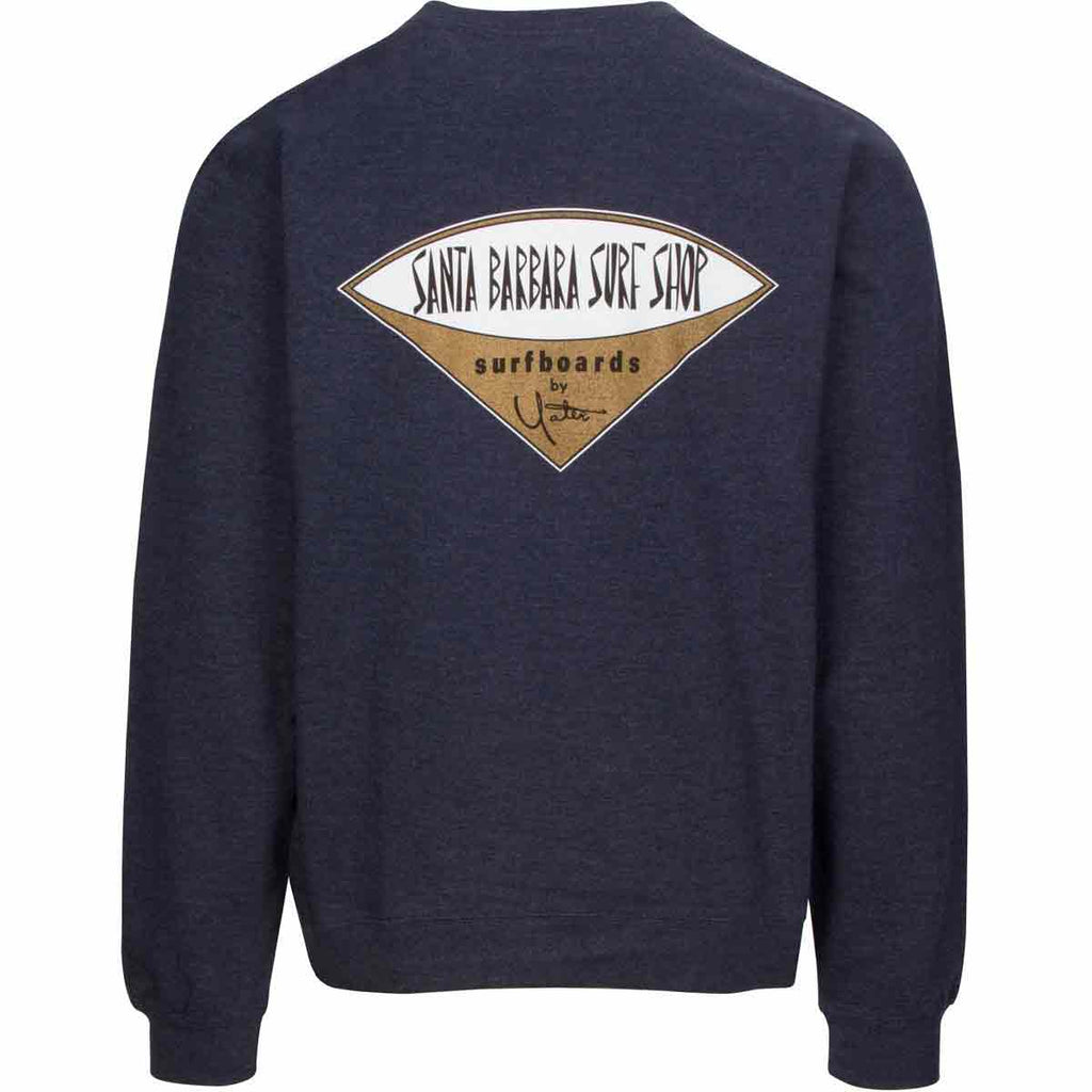 Crew Neck Sweatshirt with Santa Barbara Surf Shop Logo - Surf N' Wear Beach House Online