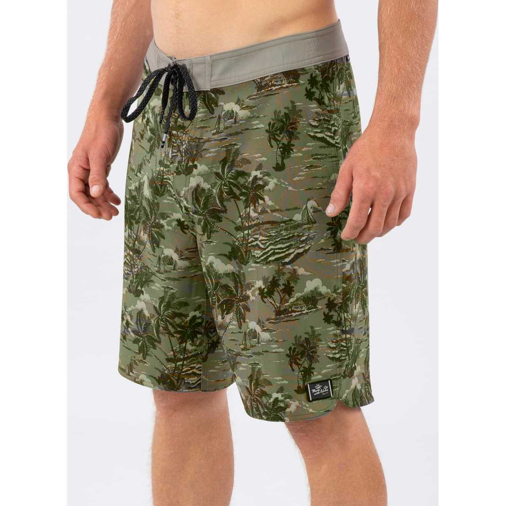 "Mirage Tropical Breeze 20"" Boardshorts in Military Green"