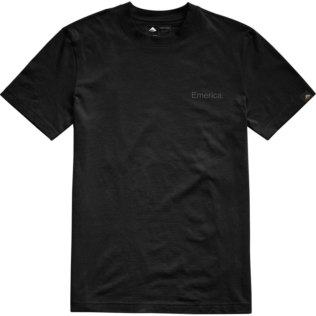 PURE EMBROIDERY T BLACK