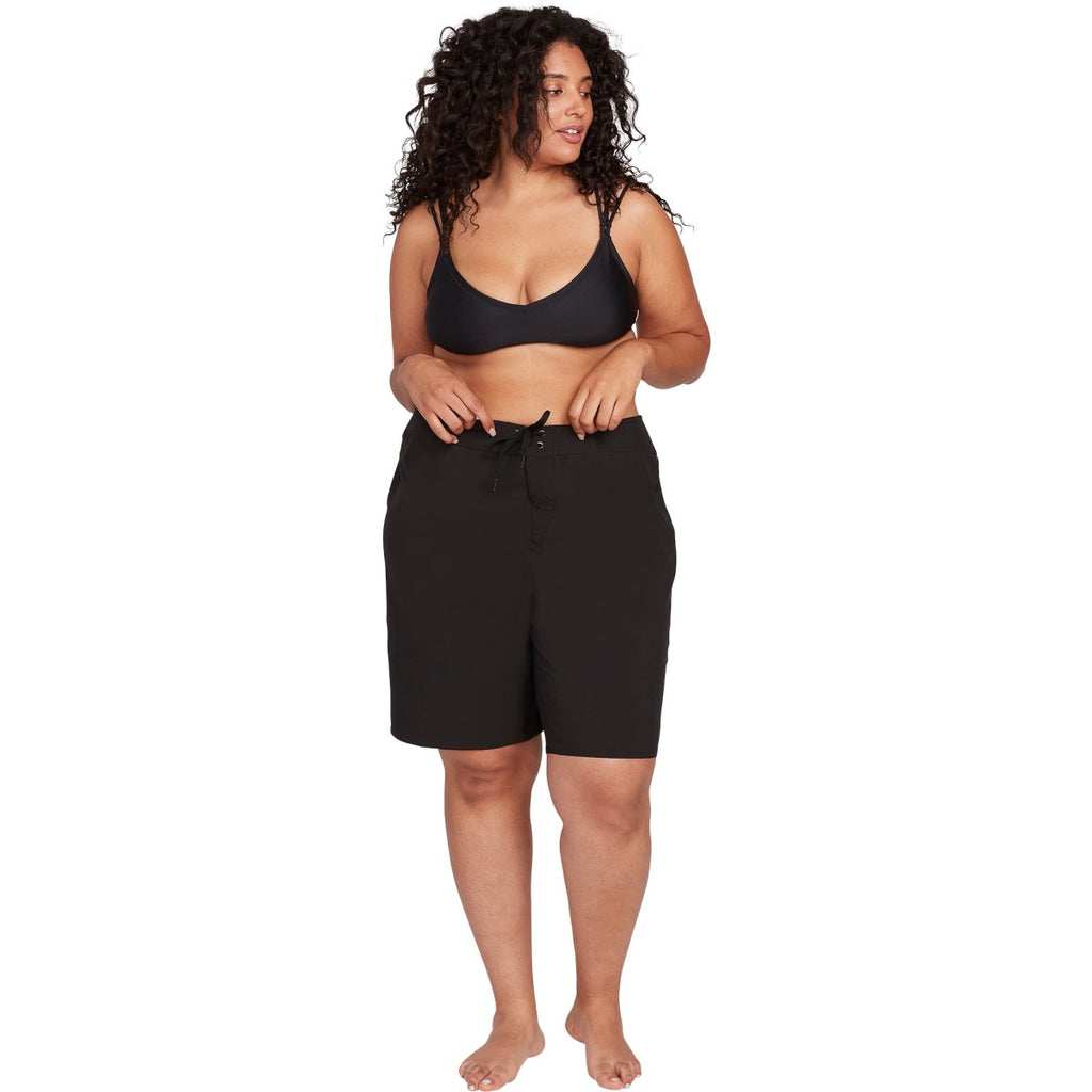"SIMPLY SOLID 11"" BOARDSHORT PLUS SIZE - BLACK - Surf N' Wear Beach House Online"