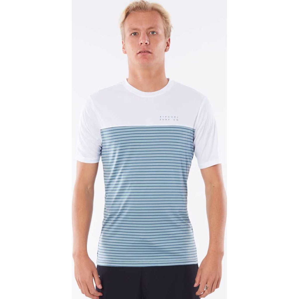 Constructor Short Sleeve Surflite Rash Guard in Dusty Blue
