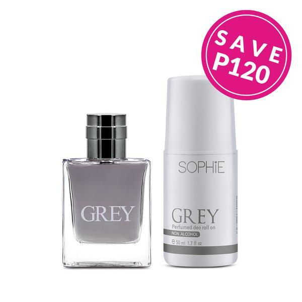 Grey Eau De Parfum & Roll-on Duo | Discounted Sophie Paris products at OOLALA.ph