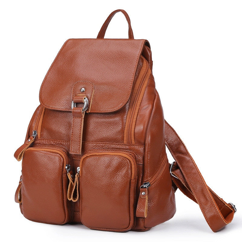 6583786510 2017 Women Genuine Leather Backpacks Ladies Fashion Backpacks For Teenagers  Girls School Bags Real Leather Travel