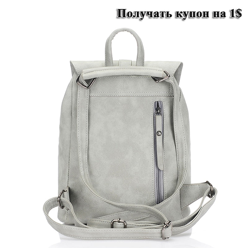25c792b6a65e fashion women leather backpack for teengaers girls famous designer cute  school bags ladies high quality female backpacks