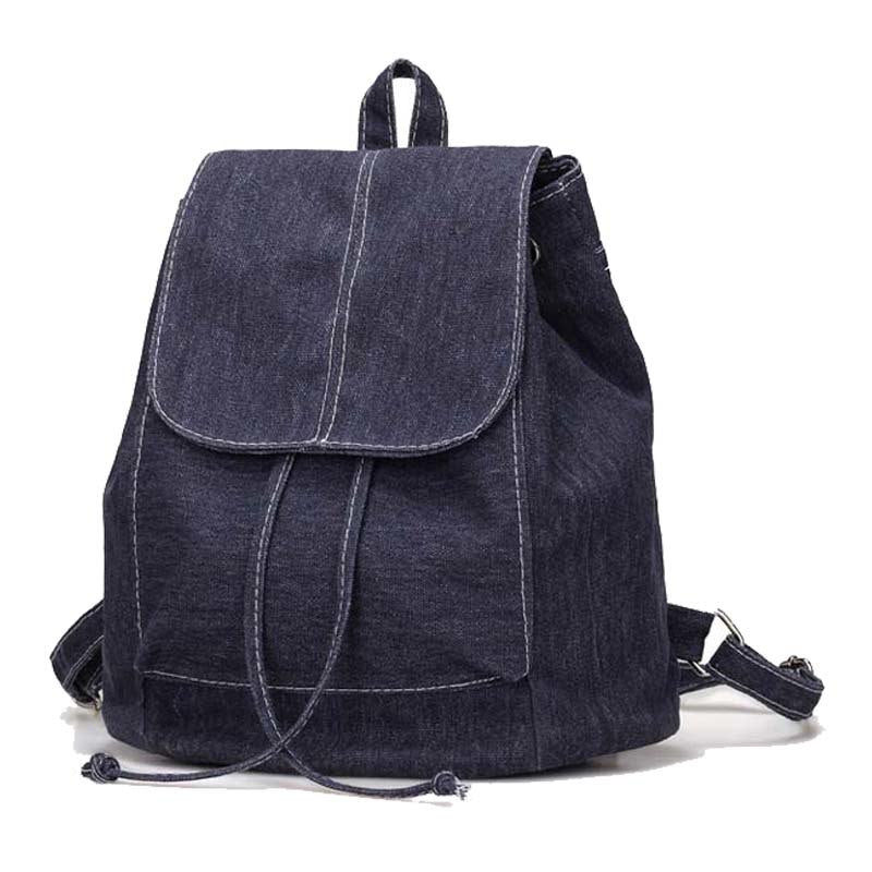 1182c0bf4d New backpack women casual canvas mochila feminina travel bags Wild  Drawstring backpack bags for women 2018
