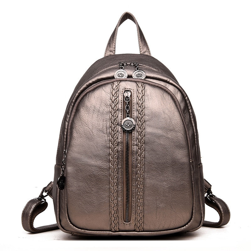 0593cd45d5 Fashion Women Backpacks Leather Women Travel Bag Casual Ladies School Bags  For Teenagers Girls Daily Backpacks