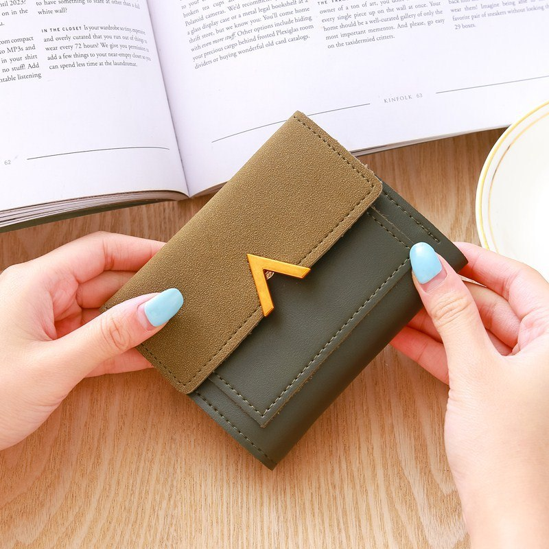5da84082b54 Matte Leather Small Women Wallet Luxury Famous Brand Mini Womens Wallets  And Purses Short Female Coin Purse Credit Card Holder
