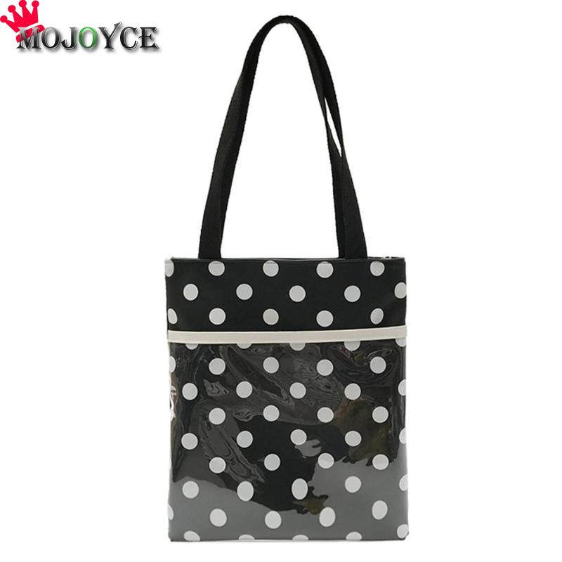 9582103f1c50 Women Shoulder Bag Waterproof PVC Candy Colors Dot Handbags Purse Casual  Tote Jelly Teenager Girls Beach