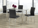 "TST-1460 TSC-1470 | 47""L Tempered Glass w/ Chrome Legs Dining Set"