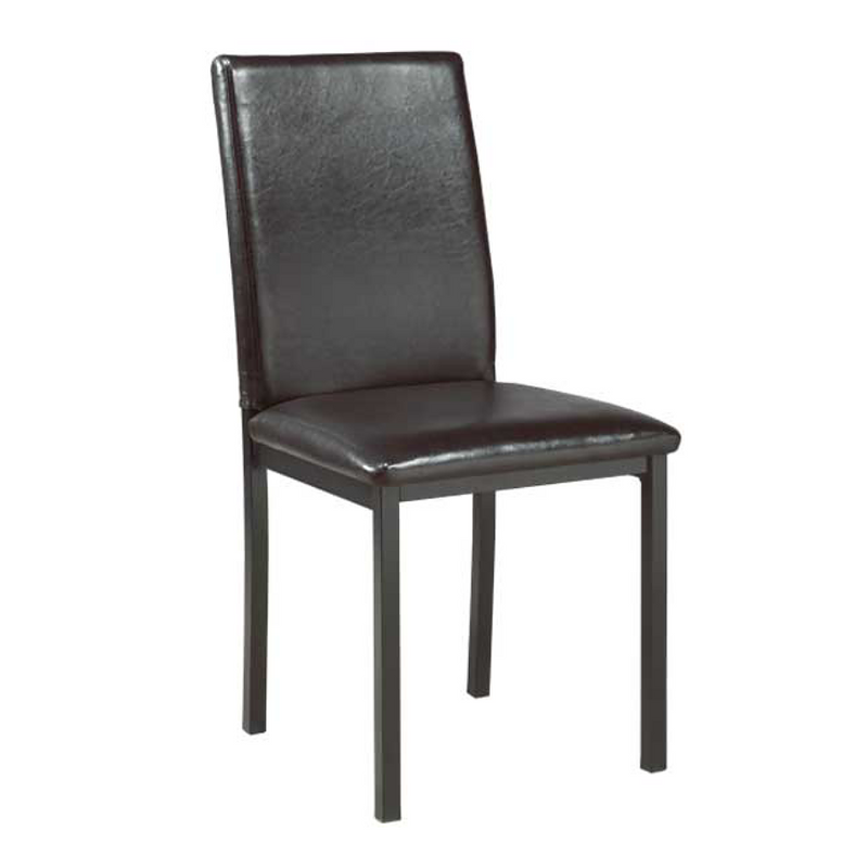 "QFIF-1016 QFIF-1017 | 17""L Upholstered Seat With Black Legs Chair"