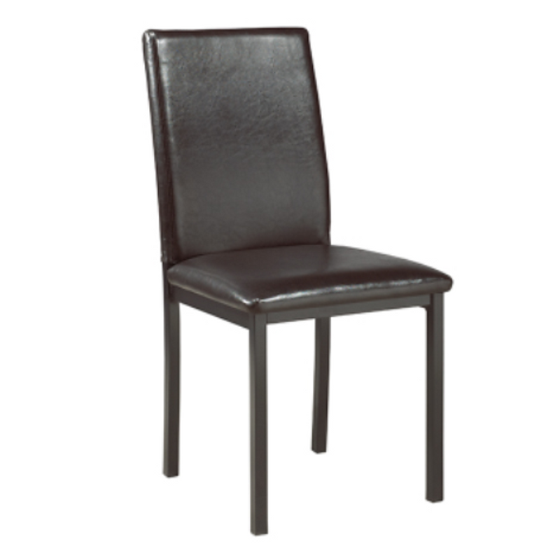 "QFIF-1036 TSC-1037 | 17""L Upholstered Seats w/ Gun Metal Legs Chair"