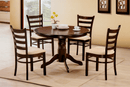 "TST-1060 TSC-1061 | 42"" Round Espresso Finish Dining Set"
