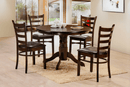 "TST-1060 TSC-1062 | 42"" Round Espresso Finish Dining Set"