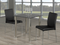 "TST-5050 TSC-5064 | 38""L Black Tempered Glass Dining Set"