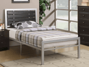 QFIF-112 | Metal with Espresso Wood Bed