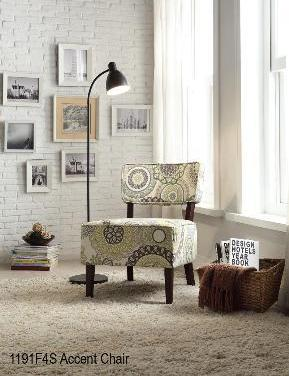 QFMZ-1191F4S |  Medalion Fabric Accent Chair