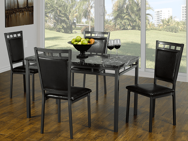 "TST-1230 TSC-1231 | 30"" L Marble Top Dining Set"