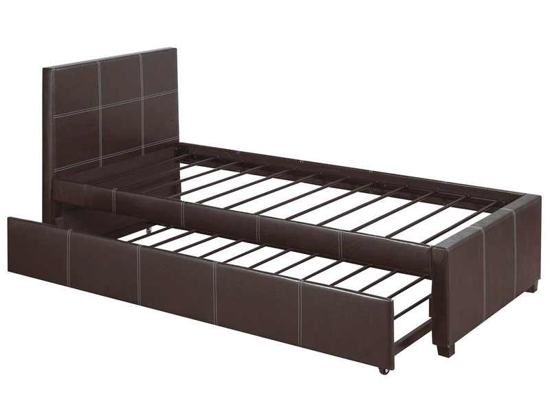 QFIF-132 | Black with White Contrast Stitching Bed