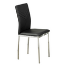 "QFIF-1470 | 19""L Black PU with Chrome Legs Chair"