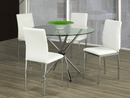 "TST-1430 TSC-1471 | 41""L Tempered Clear Glass Table Dining Set"