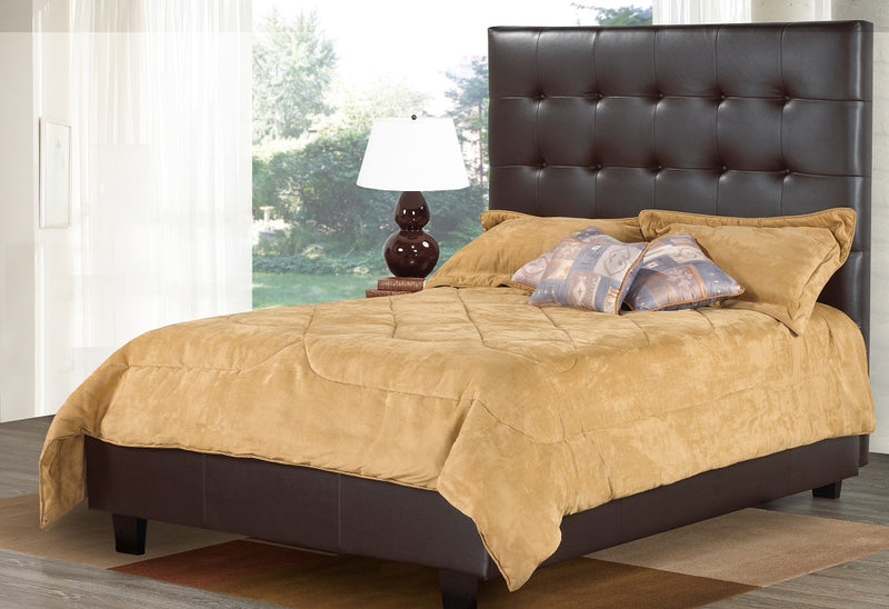 QFTT-R161 | Durable leather Headboard, Bed and Drawer