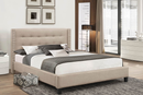 QFIF-188 | Beige Linen with Nailhead Detail Bed