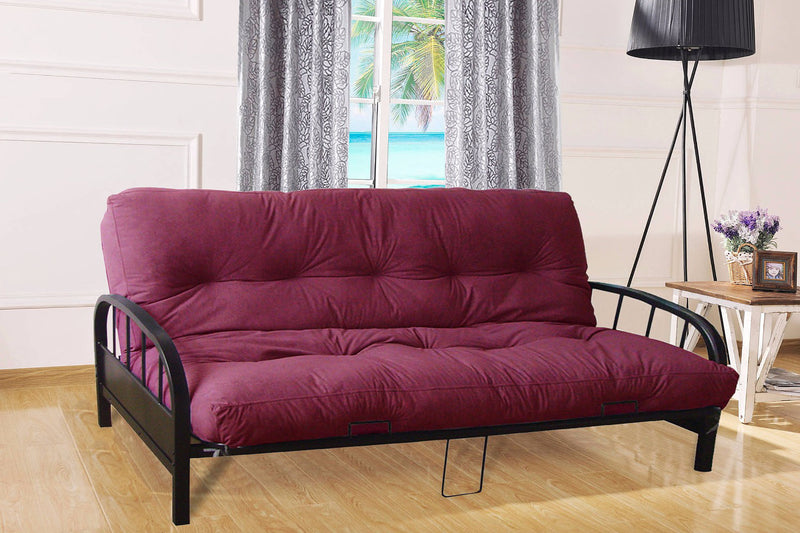 "TSIF-211 | 80""L Black Metal Futon"
