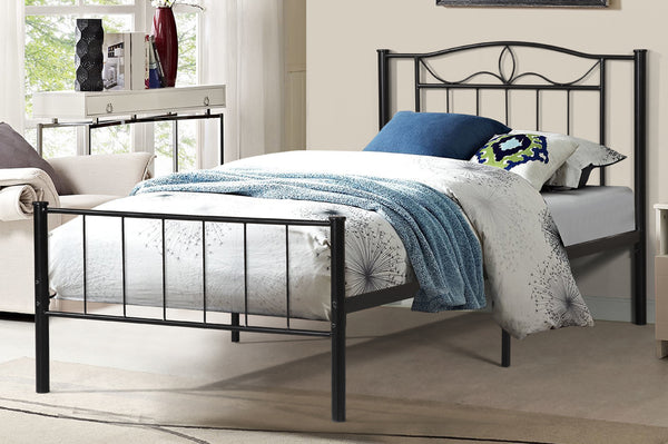 QFTT-T2310 | Twin Black Powder Coated Finish Bed