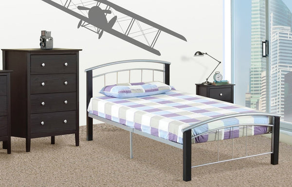 QFTT-T2330 | Black and Pewter Combination Bed