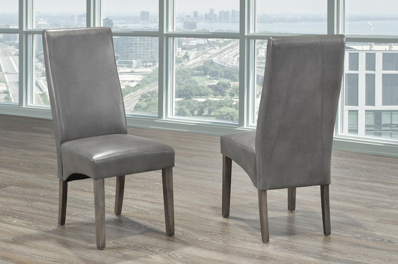 QFTT-T245 | Contemporary Grey Parson chair