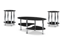 QFIF-2600 | Tempered Glass and Chrome Legs Coffee Table Set