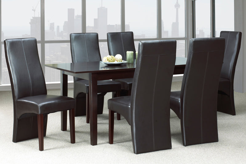 QFTT-T3009/200 | Popular Espresso/White Bonded Leather Dining Set
